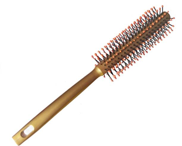 nik city store Superb Wooden Premium Quality Round Rolling Curling Wood Comb Medium wooded Hair Brush For Men And Women | pack of 1
