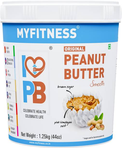 MYFITNESS Natural Peanut Butter Smooth 1250 g
