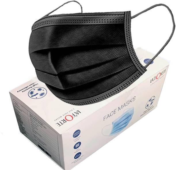 LA'FORTE Premium Superior 100 Pcs Black Superior Premium Black_100Pcs Surgical Mask