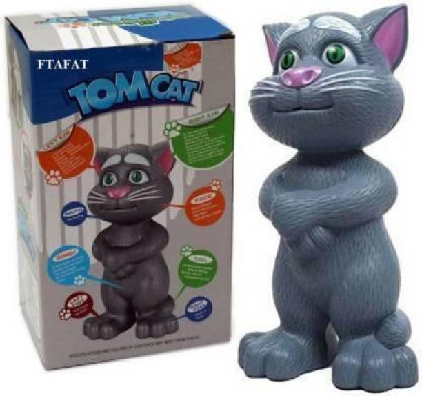 Boan Boan C Talking Tom Toy for Kids Speaking Robot Cat Repeats What You Say Best Birthday Gift for Boy and Girl Music Box