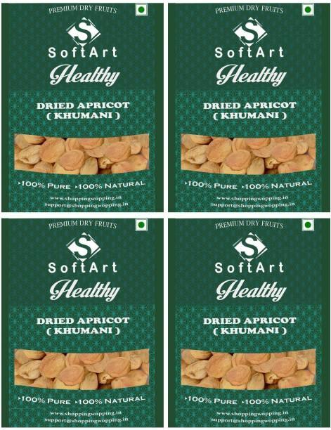 Soft Art Dried Apricot Organic (Khumani) Vacuum Pack Apricots
