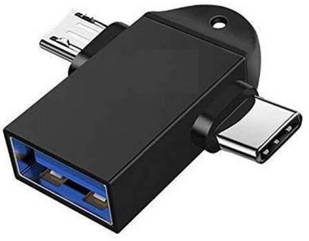 Wolfano USB, Micro USB, USB Type C OTG Adapter