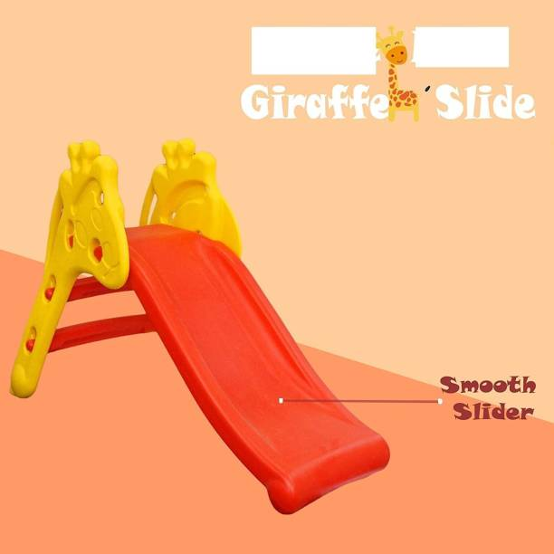 GoodLuck Baybee Giraffe Slide Foldable Baby Garden Slide for Kids - Plastic Garden Slide for Kids/Toddlers/Indoor/Outdoor Preschoolers for Boys and Girls Age Group-1 to 5 Years