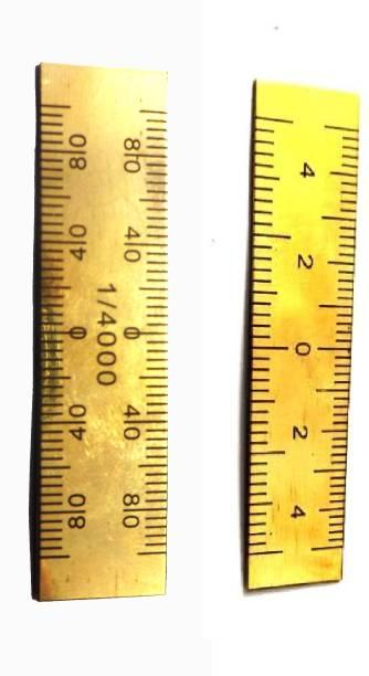 M I Enterprises POCKET SCALE WITH 1/4000 & 20 - 25 SCALING BRASS PATWARI SCALE Ruler