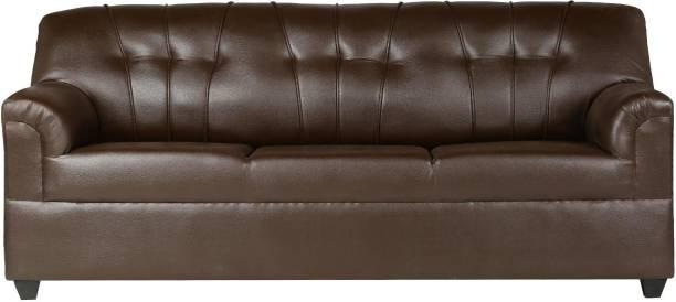 HMG Leatherette 3 Seater  Sofa