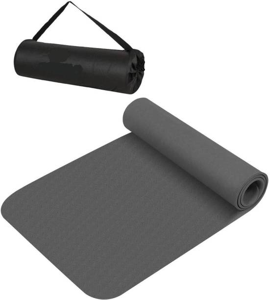 ojs Anti Skid Yoga Mat with Carrying Bag(Qty. 1 PCs. Yoga Mat + 1 PCs. Carrying Bag) 6 mm Yoga Mat