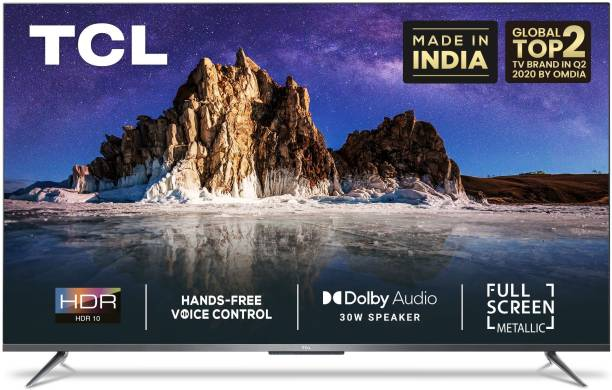TCL P715 126 cm (50 inch) Ultra HD (4K) LED Smart Android TV with Full Screen & Handsfree Voice Control