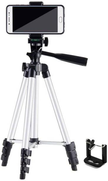OBDIR 2021 HOT SELLING 3110 Tripod Stand with Mobile Holder and Connector for Photo and Video Studio Compatible with All Mobile Phone & Other Devices tripod Snack Video stand Compatible All Smartphone Best Use for Videos on snack, Vigo Video,Snap chat, You Tube,online class,Tripod Kit Tripod, Tripod Kit, Tripod Ball Head