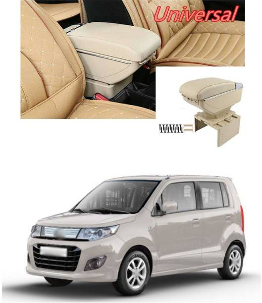 PECUNIA Universal Car Armrest Center Console Pad,PU Leather Car Armrest Seat Box Cover Protector Protects from Dirt,Damage,Pet Scratches,Old Damaged Consoles (Beige) A176 Car Armrest