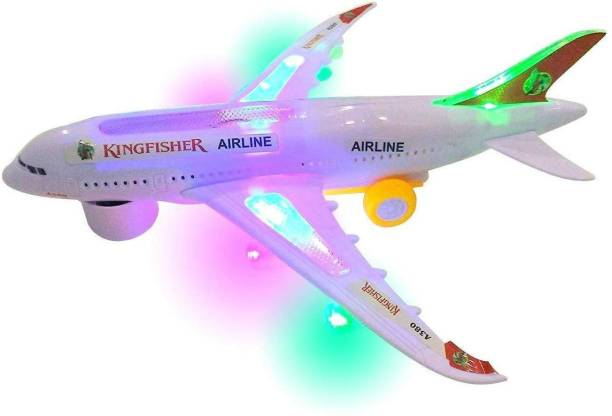 Toyporium Battery Operated Aeroplane Toy for Kids (Light and Sound)