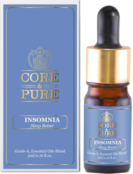 CORE & PURE Insomnia Oil- Helps in Better Sleep, Anxiety, Tension & Relaxation  Natural Essential Oils Blend, Ayurvedic -