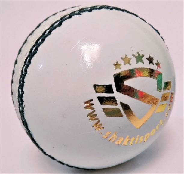 SHASPO White Cricket Leather Ball