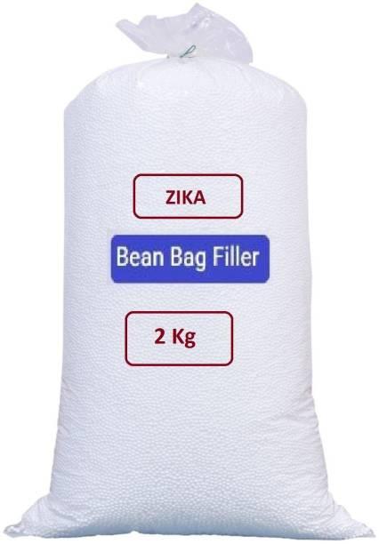 ZIKA Premium 2 Kg Bean Bag Refill/Filler - Earth White Bean Bag Filler Bean Bag Filler