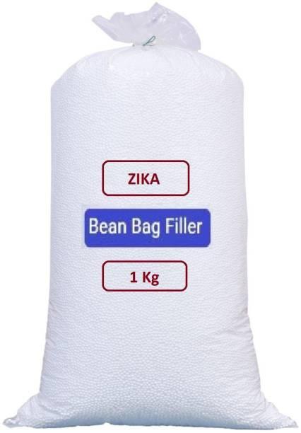 ZIKA Premium 1 Kg Bean Bag Refill/Filler - Earth White Bean Bag Filler Bean Bag Filler