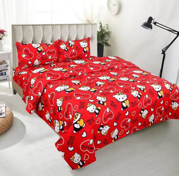 A11 M@LL 140 TC Polycotton Double Cartoon Bedsheet