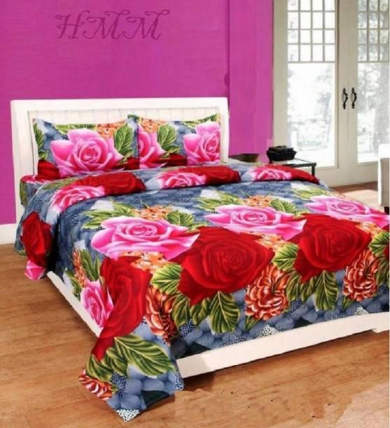 hmm 144 TC Cotton Double Floral Bedsheet
