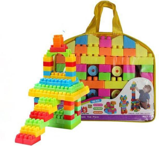 FRAONY 100 Pcs Building Blocks Learning Educational Toy Set For Kids Children Puzzle Assembling durable