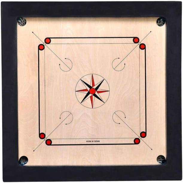 vnh Matte Finish Large Size 34inches Carrom Board with Coins, Striker & Powder 34 cm Carrom Board