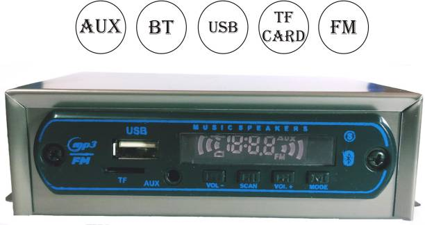 SHOPDAY MP3 Player BT/USB/TF/AUX/FM Use in CAR/Bike/Auto/Taxi/Tractor Etc Premium Quality Car Stereo