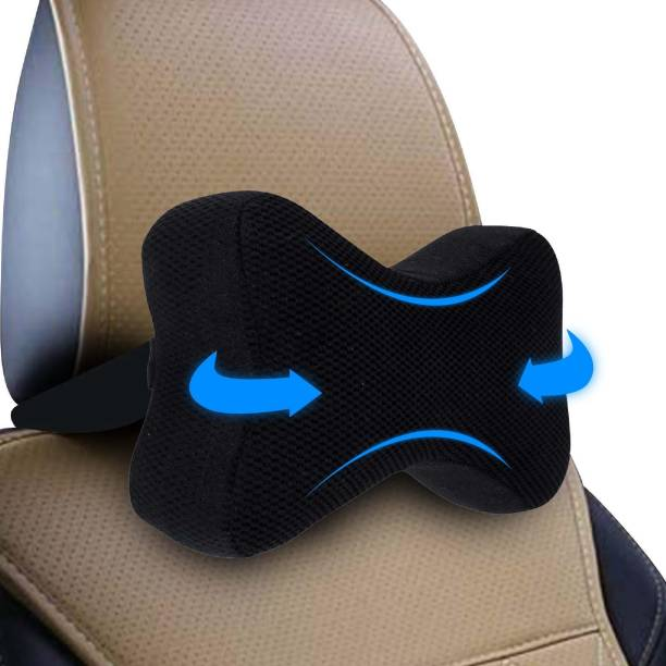 godryft Black Memory Foam Car Pillow Cushion for Universal For Car