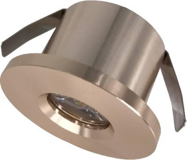 LEDOLUX 3-Watt LED COB Spot/Down Light Copper Round(Warm white 3000k) Recessed Ceiling Lamp