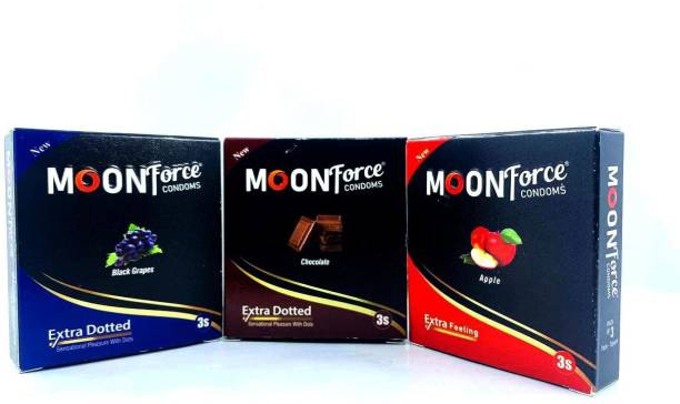 MOONFORCE MOONFORCE_CONDOMS_APPLE_CHOCOLATE_BLACKGRAPES_COMBO Condom