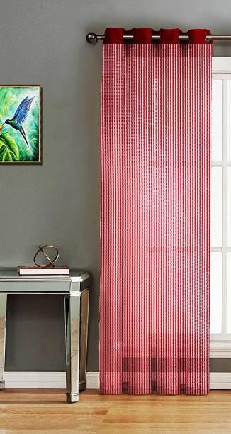 Saanvi Creations 152 cm (5 ft) Net Window Curtain Single Curtain