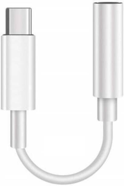 Jeeso Type C to 3.5 mm Jack Audio Connector, 0.3 m USB Type C Cable (Compatible with Compatible with plus 6t 7, 8, 6, Red, White, One Cable) 0.3 m USB Type C Cable