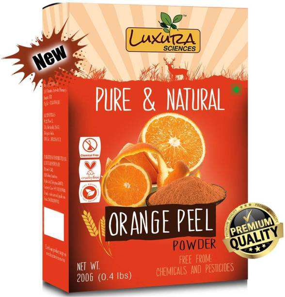 LUXURA SCIENCES Pure Orange Peel Powder For Skin Whitening 200 Grams, Face Pack, 100% Organic, Natural, Double Filtered. ???