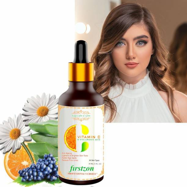 FIRSTZON Glowing skin brightening, lightening, remove dullness, tan removal, anti ageing, reduce fine lines, age spots Hyaluronic acid vitamin-c face serum