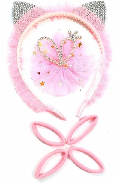 HOMEMATES multi-colored baby girl kids hairband headbands knot elastic hair band hair accessories 3 PCS - PINK-5 Head Band
