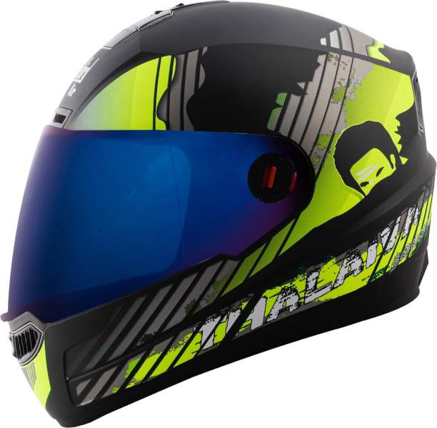 Steelbird SBA-1 Thalaiva Full Face ISI Certified Helmet Fitted Clear Visor and Extra Visor Motorbike Helmet