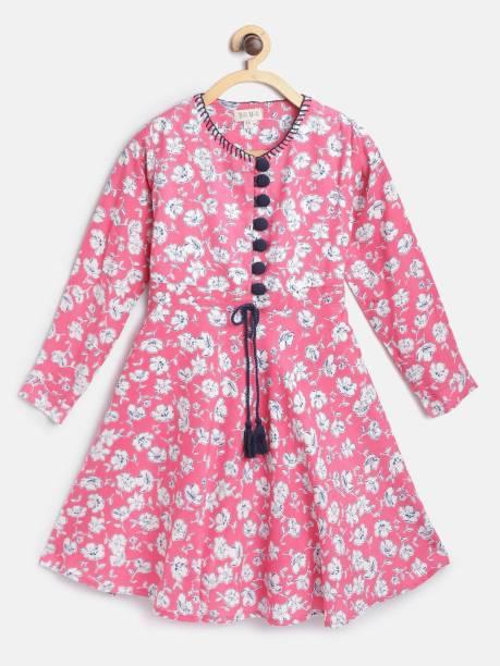 Bella Moda Girls Midi/Knee Length Casual Dress