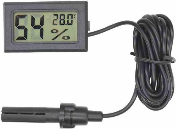 GoodsBazaar Mini Digital Hygrometer Thermometer Gauge with Wired Sensor Head Probe LCD Display Temperature Celsius Humidity Meter for Aquarium, Fridge, Refrigerator, Reptile Plant Terrarium, Humidor, Incubator, Guitar Case, Greenhouse, Room, Wall Thermometer Electronic Temperature Meter Digital Humidity Meter Digital Thermometer Pin-Type Digital Moisture Measurer