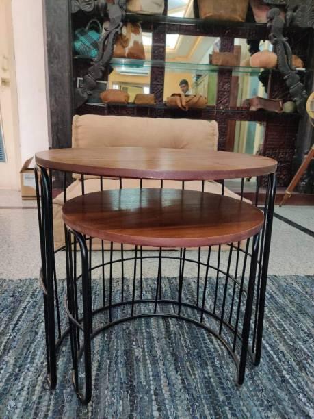 PRITI Engineered Wood Nesting Table