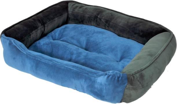 R.K Products sky blue_dark green_square XXL Pet Bed