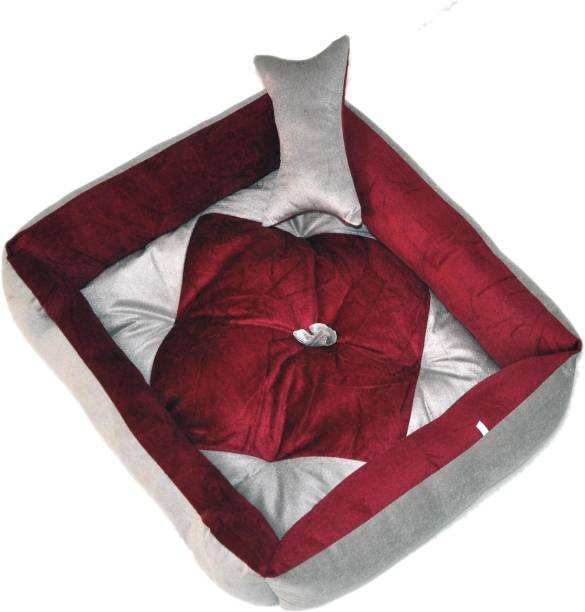 R.K Products 13_gry_wine_square M Pet Bed