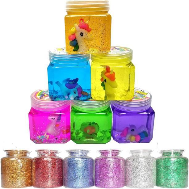anjanaware slime combo for kids Multicolor Putty Toy with glitter Multicolor Putty Toy