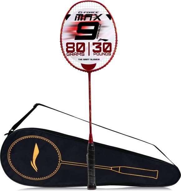 LI-NING G-Force Superlite Max 9 Red, Gold Strung Badminton Racquet