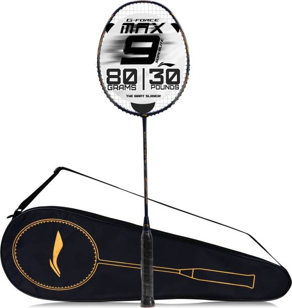LI-NING G-Force Superlite Max 9 Blue, Gold Strung Badminton Racquet