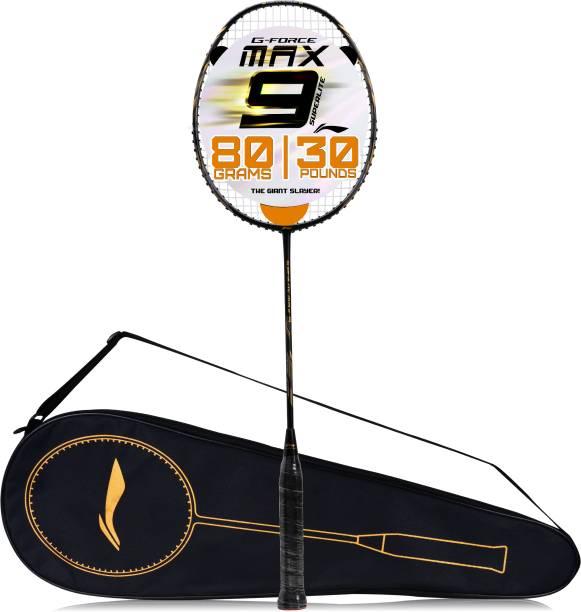 LI-NING G-Force Superlite Max 9 Black, Gold Strung Badminton Racquet