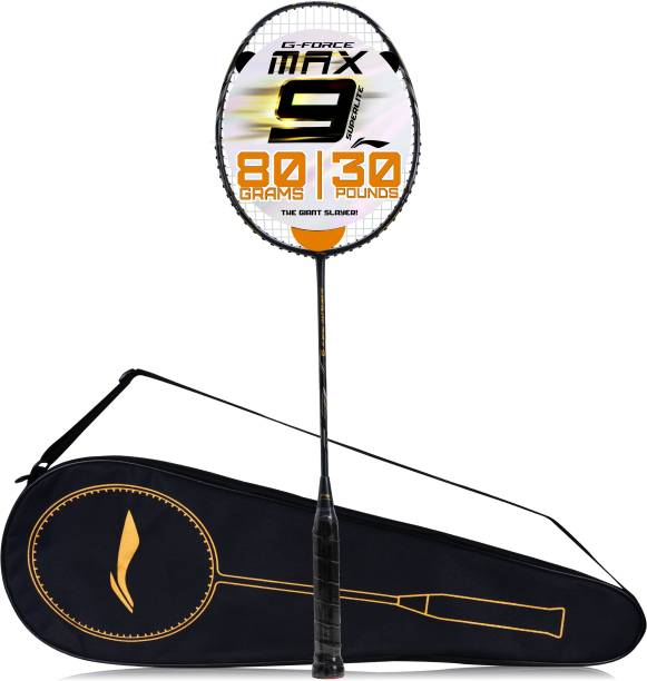 LI-NING G-Force Superlite Max 9 Grey, Black Strung Badminton Racquet