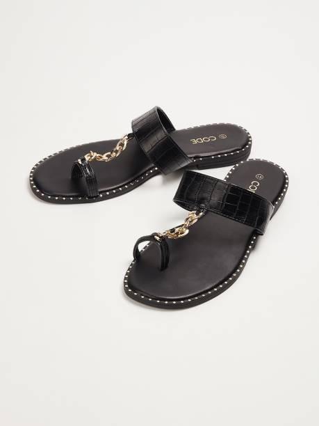 CODE Women Black Flats