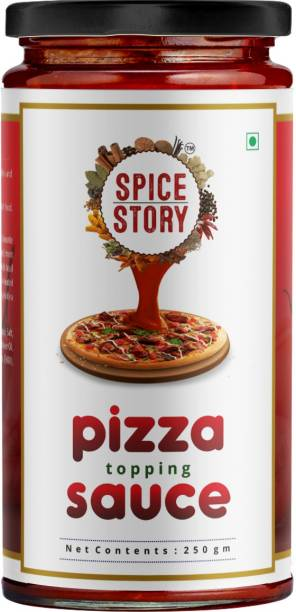 Spice Story Pizza Sauce with Tomato, Chillies and Mixed Herb Seasoning, Gourmet Style, Ready to use - 250gm Sauce