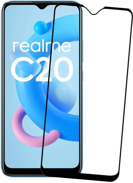 Karpine Edge To Edge Tempered Glass for Realme C20, Realme C21, Realme C25