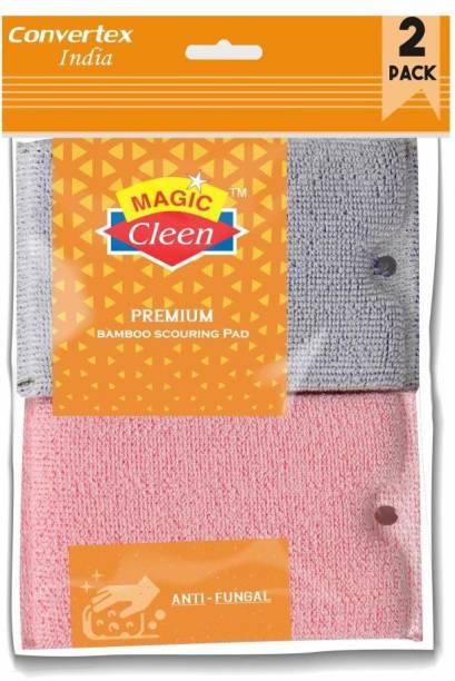 Magic Cleen Scourer Pad - (1 Pack of 2 Pcs) Scrub Pad