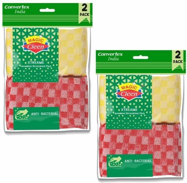 Magic Cleen Scourer Scrub Pad (2 Packs of 4 Pcs) Scrub Pad