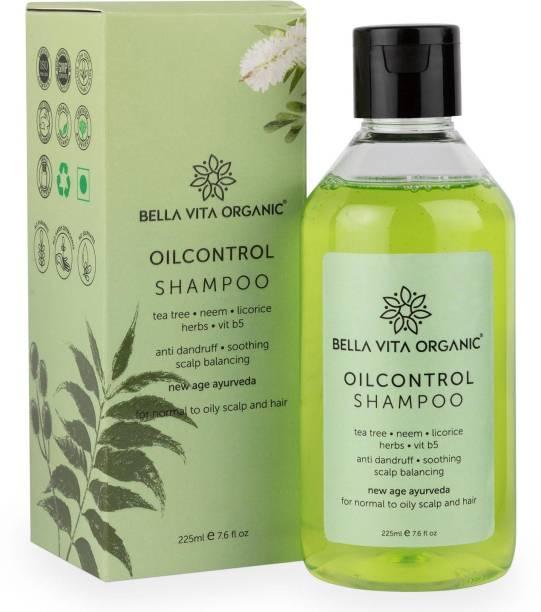 Bella vita organic Oil Control Shampoo with Natural Neem, Tea Tree Oil, Vitamin B5