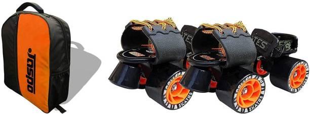 Jaspo Adjustable Quad Roller Skates Suitable for Age Group Quad Roller Skates - Size 7 UK