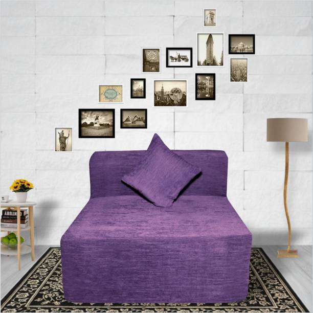 Seventh Heaven 6×3 Molfino Fabric Sofa cum Bed with 1 Cushions Single Sofa Bed